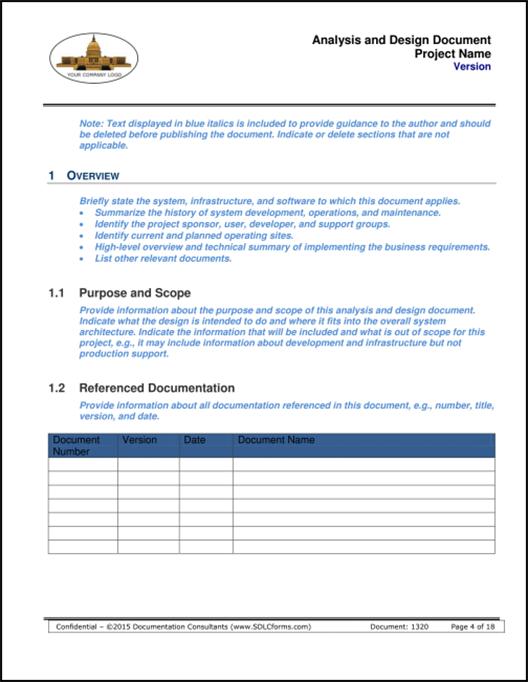 Sdlcforms Analysis And Design Document