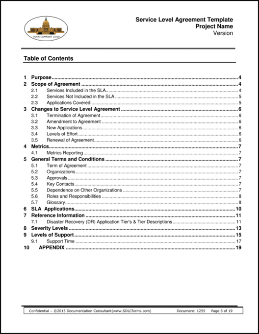 Service Level Agreement Template – Service Level Agreement Template