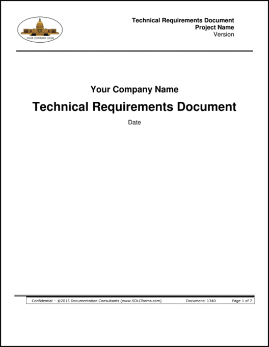 how to write a technical requirements document