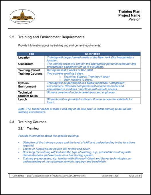 Training Plan P05 500